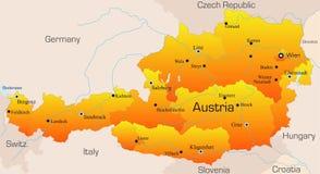 Austria. Abstract vector color map of Austria country Royalty Free Stock Photos