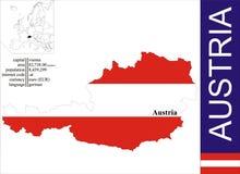 Austria. Flag and area vector illustration stock illustration
