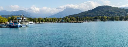 Austria. Alpine lake Wörthersee, near the city of Klagenfurt stock images