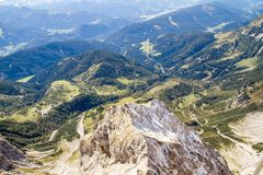 Austria. Alpine ridge- 09/25/2018: Dachstein mountain at an altitude of 3500 meters above sea level. Austria. Alpine ridge- 09/25/2018: Dachstein mountain at an stock images