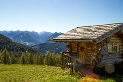 Austria. Alpine ridge- 09/25/2018: Dachstein mountain at an altitude of 3500 meters above sea level. Austria. Alpine ridge- 09/25/2018: Dachstein mountain at an stock image