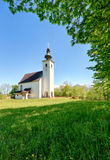 Austria Alps church in village Golling Stock Images