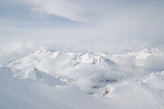 Austria. Alps. Kaprun glacier ski resort Royalty Free Stock Images
