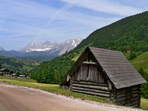 Austria,Alps-outlook of the Dachstein Royalty Free Stock Photos
