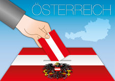 Austria, ballot box, elections. Austrian ballot box, elections, vector file, illustration stock illustration