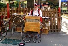 Austria_Barrel-Organ Stockfotos