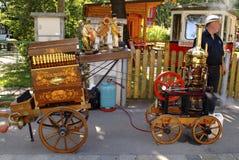 Austria_Barrel-Organ Stockfoto