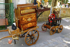 Austria_Barrel-Organ Stockbild