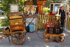 Austria_Barrel Organ Stock Photo