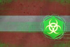 Austria biohazard threat. Bio danger concept. Royalty Free Stock Photo