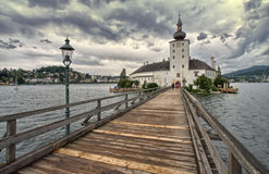 Austria bridge on the lake Stock Photo