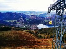 Austria Cable Car Stock Image