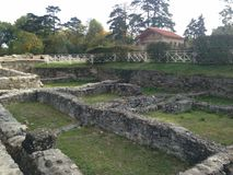 Austria Carnuntum ruins of ancient Roman city. Carnuntum was large Roman city. Photographed in October 2017 stock photos
