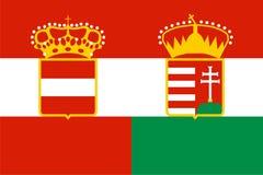 austria chorągwiany Hungary ilustracja wektor