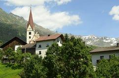 Austria, Tirol, Kaunertal. Austria, church in mountain village Kauns in Tirol Stock Photos