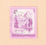 AUSTRIA - CIRCA 1984: A stamp printed in Austria shows the Almsee Almsea, circa 1984. A stamp printed in Austria shows the Almsee Almsea, circa 1984 stock photo