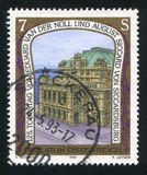 Vienna State Opera. AUSTRIA - CIRCA 1993: stamp printed by Austria, shows Vienna State Opera, designed by Eduard van der Null and August Siccard von Siccardsburg royalty free stock photography