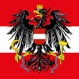 Austria coat of arm and flag Stock Image