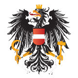 Austria coat of arms isolated. Symbol of austria eagle with hammer and sickle and crown Royalty Free Stock Image