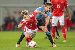 Austria contra Bélgica uruguay fotografía de archivo