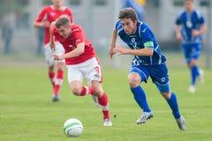 Austria contra Bosnia y Herzegovina (U19) Fotografía de archivo libre de regalías