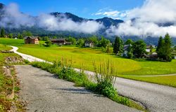 Austria country in Alps picturesque landscape Royalty Free Stock Image