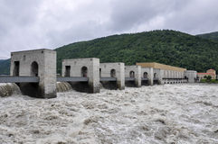 Austria Dam on the Danube Stock Photography