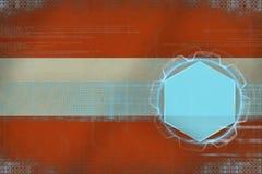 Austria digital mockup. Modern frame concept. Stock Image