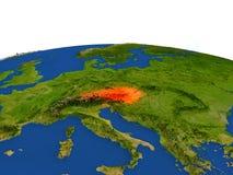 Austria en rojo de la órbita ilustración del vector