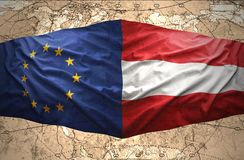 Austria and European Union Royalty Free Stock Images