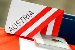 Austria ewidencyjny materiał na biurku Obraz Stock