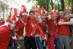 Austria fans at the euro 2008 Royalty Free Stock Photography