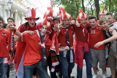 Austria fans at the euro 2008 Stock Photography