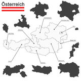 Austria and federal states Royalty Free Stock Photos