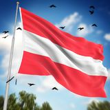 austria flagę royalty ilustracja