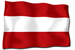 Austria Flag. Flag of Austria waving in the wind Vector Illustration