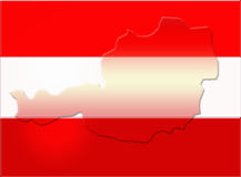 Austria flag Royalty Free Stock Photography