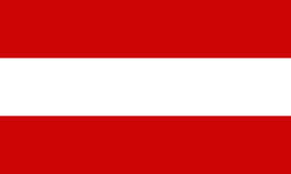 Austria flag. Flag of Austria waving in the wind Royalty Free Stock Images