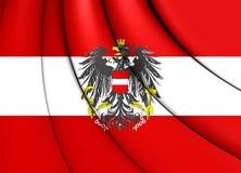 austria flagę Zdjęcie Royalty Free