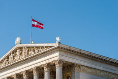 Austria Flag Stock Photography
