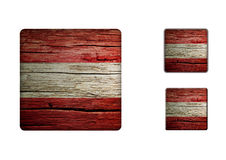 Austria Flag Buttons Stock Photography