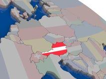 Austria with flag Stock Photo