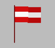 Austria flag icon illustrated Royalty Free Stock Photography