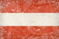Austria flag  on plywood. Stylized picture - Austria flag  on plywood Royalty Free Stock Photo