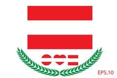 Austria Flag vector illustration. Austria Flag. Royalty Free Stock Image