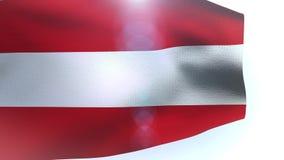 Austria flag wave waving. Video stock footage