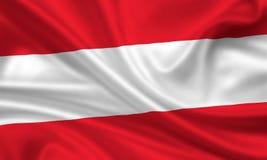austria flaga Zdjęcie Stock