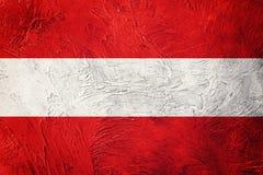 austria flagi crunch Austria flaga z grunge teksturą Zdjęcie Stock