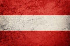 austria flagi crunch Austria flaga z grunge teksturą Zdjęcia Royalty Free