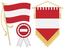 Austria flags Stock Photos